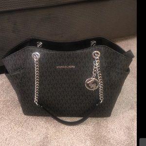 Nwot Michael Kors black and silver signature bag